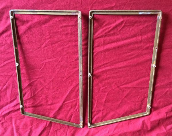 Brass Frames for Door Protection - Pair / Messing Rahmen für Türschutz - Paar