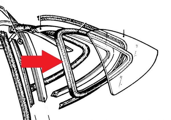 Rear Side Window Seals - Pair / Dichtung für hintere Seitenfenster - Paar