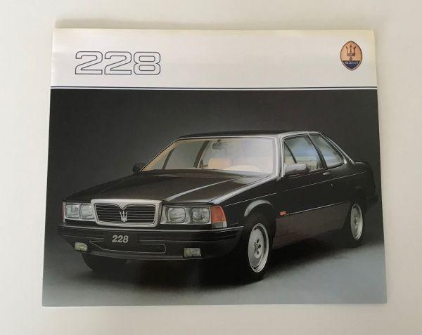 MASERATI 228 - Brochure / Prospekt