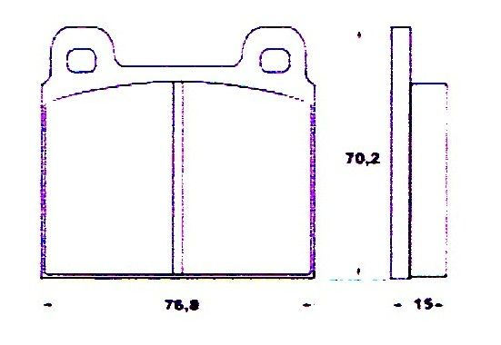 Set of 4 Brake Pads for front axle / Satz Bremsbeläge (4) - vorne