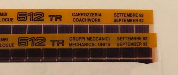 MICROFICHE 512 TR - Parts Catalogue / Teilekatalog