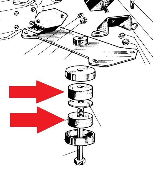 Lower Gear Support Rubber / Unteres Gummi für Getriebehalterung