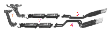 Complete Set of Exhaust Mainfolds / Komplettsatzatz Auspuffkrümmer