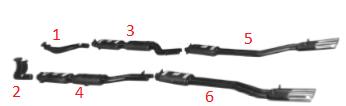 Interpipe - left / Zwischenrohr -. links