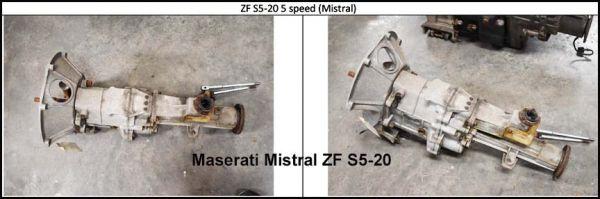 Maserati Mistral S5-20 - Gearbox / Getriebe