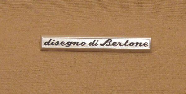 """disegno di Bertone"" Script / Schriftzug"