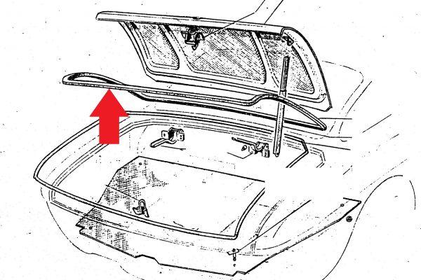 Trunk Rubber Seal at Bonnet / Kofferraumdichtung an Deckel
