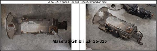 Maserati Ghibli ZF S5-325 - Gearbox / Getriebe
