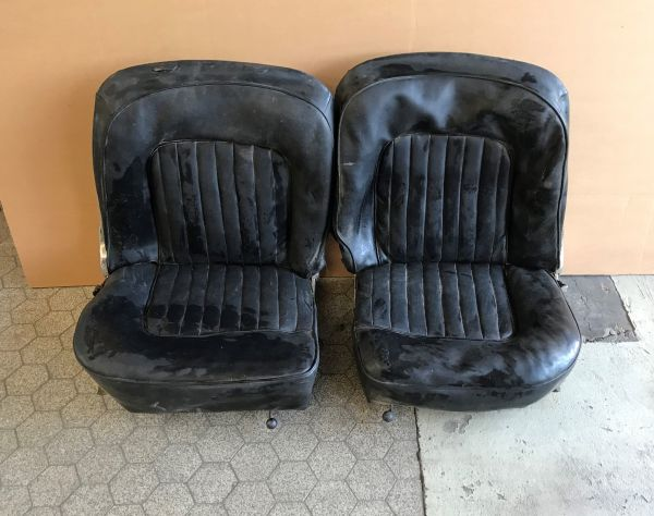Pair of Seats - black Leather / Paar Sitze - Leder schwarz