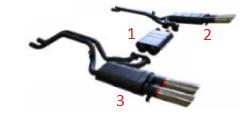Rear Silencer - right / Endschalldämpfer - rechts