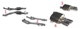 Set (2) of Catalytic Converter / Satz (2) Katalysatoren
