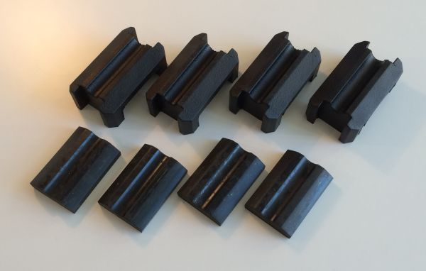 Set of Rubber for Rear Springs / Satz Gummis für Blattfedern
