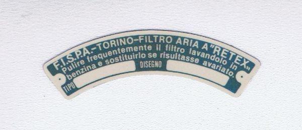 FISPA - Air Filter Sticker / Aufkleber für Luftfilter