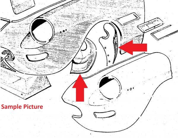 Rubber under Mudguard / Dichtung für Innenkotflügel