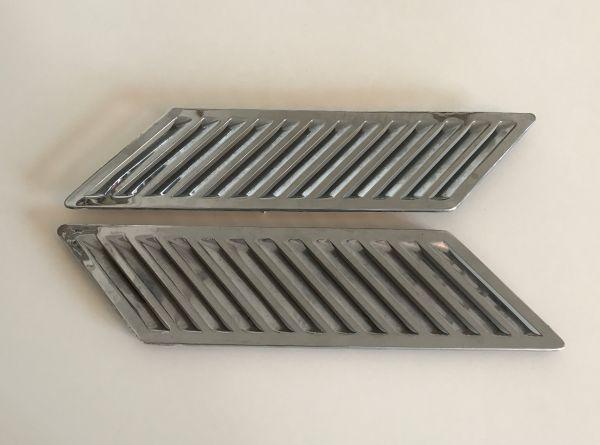 Pair of Side Vents - Chromed / Paar Lüftergitter verchromt